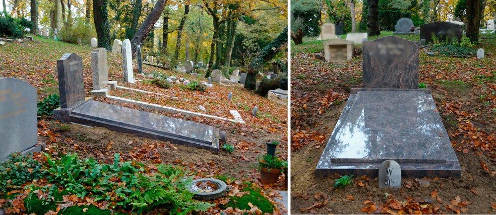 Grafsteen Amsterdam Begraafplaats