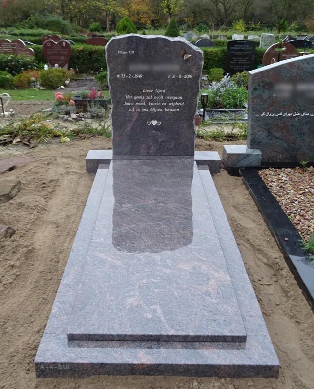 Bruine Grafsteen Voorbeeld