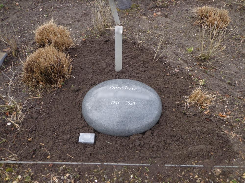ronde grafsteen