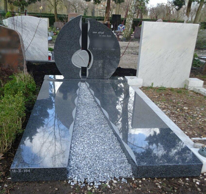 Grafsteen opzet voorbeeld