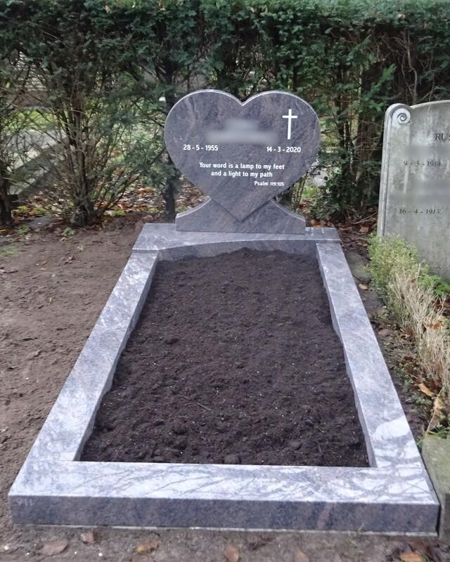 Grafsteen voorbeeld voor graf
