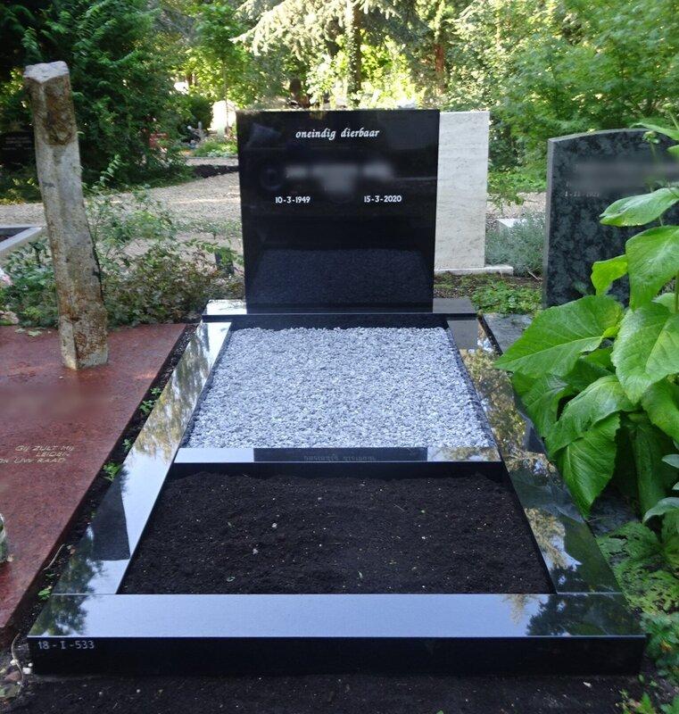 Zwarte Combinatie Grafsteen