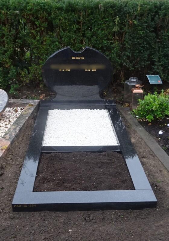 Grafsteen Zwart Glans