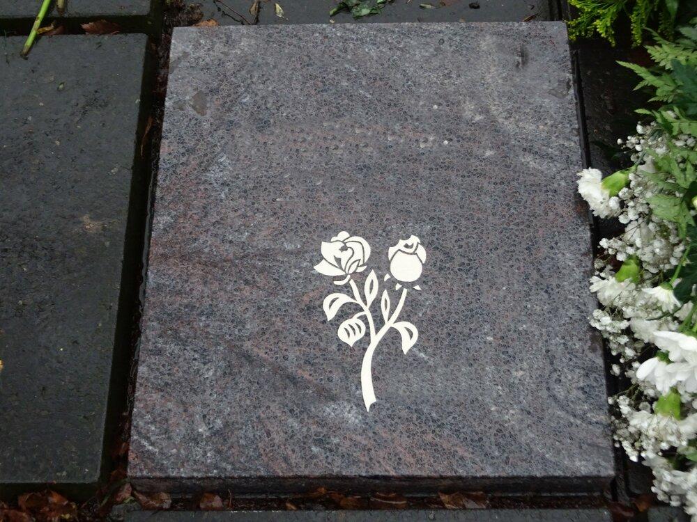 Grafsteen met print vormen